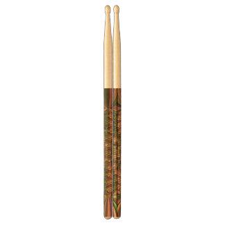 Strange abstract pattern drumsticks