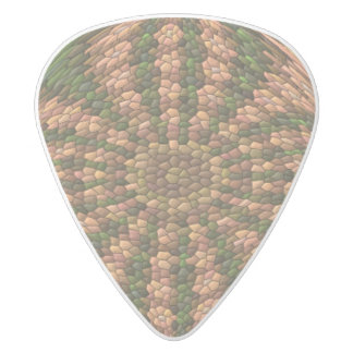 Strange abstract pattern white delrin guitar pick