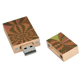 Strange abstract pattern wood USB 2.0 flash drive