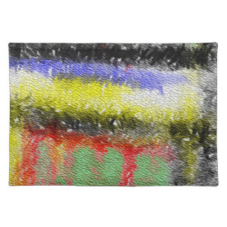 Strange abstract pattern cloth placemat