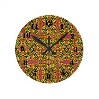 Strange abstract pattern round clock