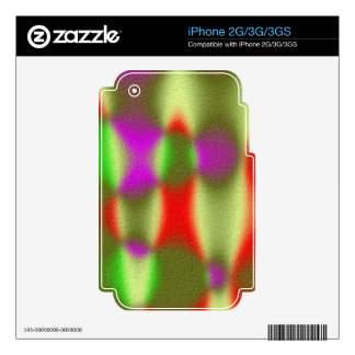 Strange abstract pattern iPhone 3G decal