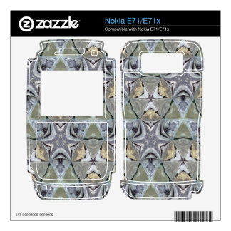 Strange abstract pattern decals for the nokia e71