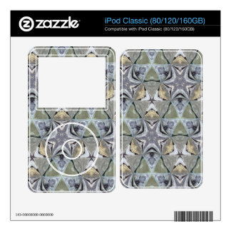 Strange abstract pattern iPod decals
