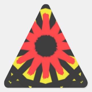 Strange abstract pattern triangle sticker