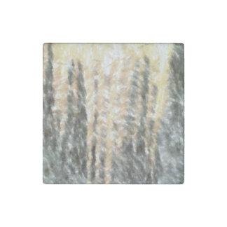 Strange abstract pattern stone magnet