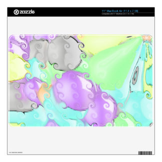 Strange abstract pattern with bright colors decal for MacBook air