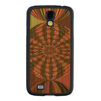 Strange abstract pattern carved® cherry galaxy s4 slim case