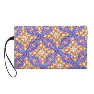 Strange abstract pattern wristlet purse