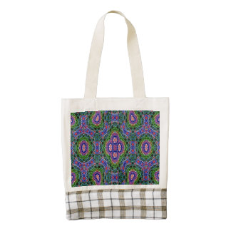 Strange Abstract Pattern Zazzle HEART Tote Bag