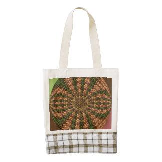 Strange abstract unique  pattern zazzle HEART tote bag