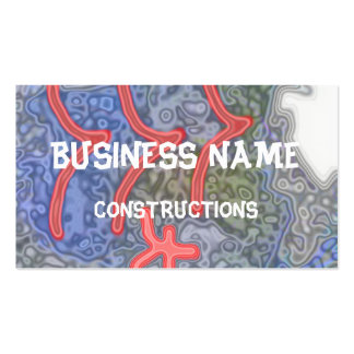 Strange and unusual pattern business card