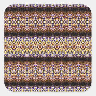 Strange and unusual pattern square sticker