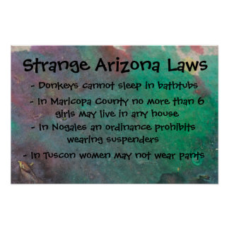 Strange Arizona Laws Poster