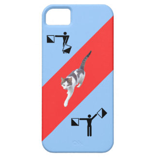 Strange art with cat iPhone SE/5/5s case