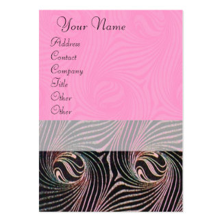 STRANGE ATTRACTORS ,pink brown Large Business Cards (Pack Of 100)