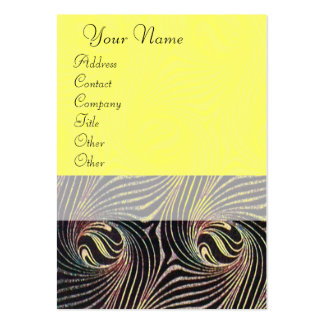 STRANGE ATTRACTORS yellow brown Large Business Cards (Pack Of 100)