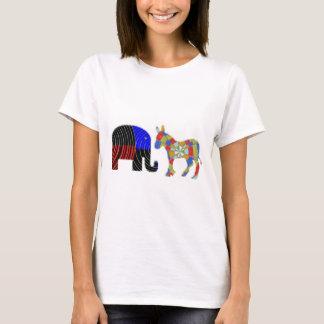 Strange Bed Fellows : POLITICS Elephant n Donkey T-Shirt