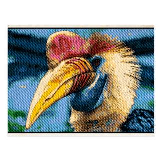 Strange bird post card
