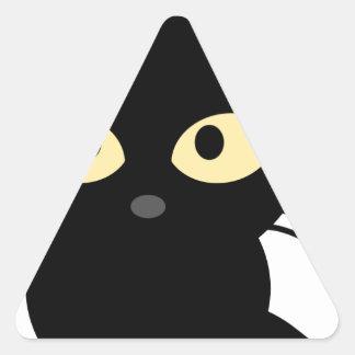 Strange black_cat triangle sticker