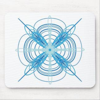 Strange Blue Swirl Mouse Pad