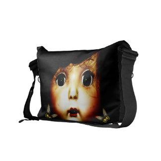 Strange Butterfly Girl Messenger Bag
