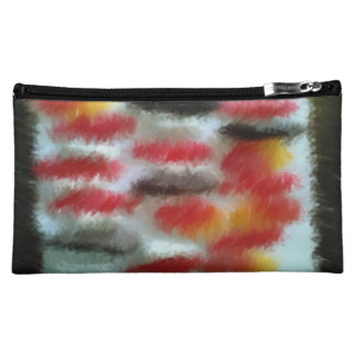 Strange candy pattern art cosmetic bag
