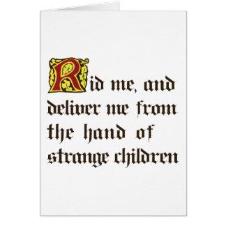 Strange Children Card