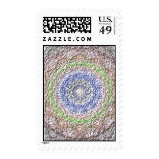 Strange circle pattern postage