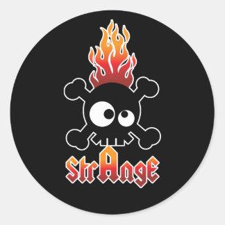 Strange Classic Round Sticker