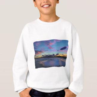 strange clouds at sunset sweatshirt
