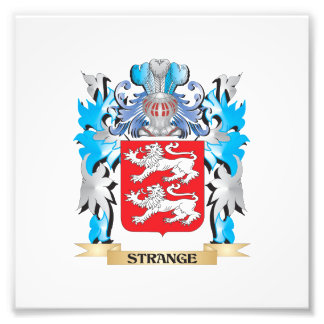 Strange Coat of Arms - Family Crest Photo Art
