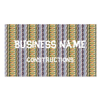 Strange colored pattern business card