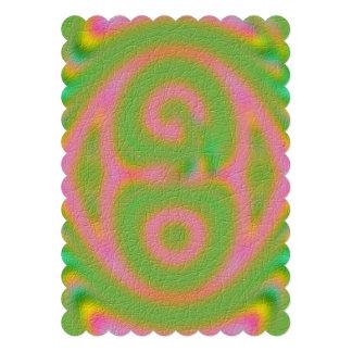 Strange colored pattern card