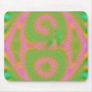 Strange colored pattern mouse pad