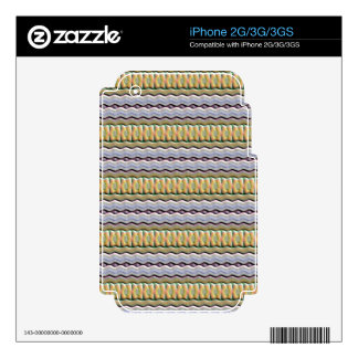 Strange colored pattern decals for the iPhone 3