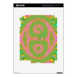 Strange colored pattern skins for iPad 3