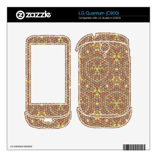 Strange colored tiles pattern decals for the LG quantum