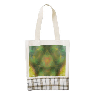 Strange colorful abstract pattern zazzle HEART tote bag