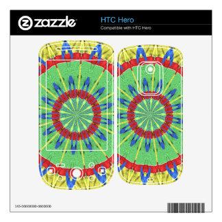 Strange colorful art HTC hero decals