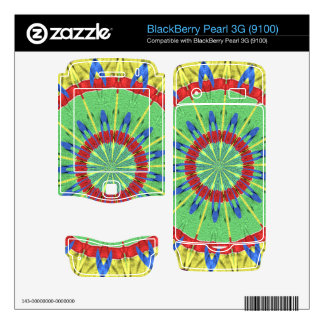 Strange colorful art BlackBerry pearl decal