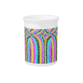 Strange colorful line pattern drink pitcher