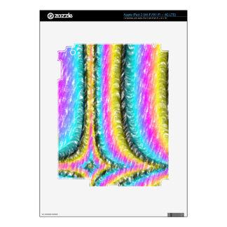 Strange colorful line pattern iPad 3 decal
