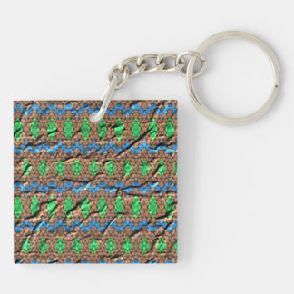 Strange colorful pattern keychain