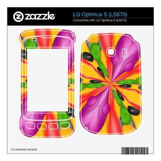 Strange colorful LG optimus s skins