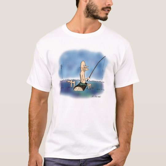 Strange Day Fishing Cartoon T-Shirt