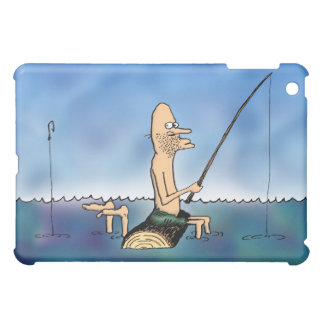 Strange Day Fishing Funny Carton  iPad Mini Case