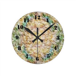 Strange different pattern round clock