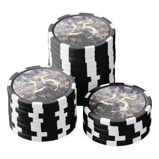 strange edited photo poker chip set