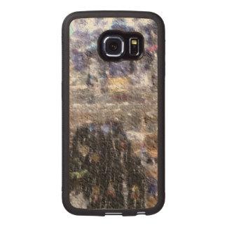 strange edited photo wood phone case